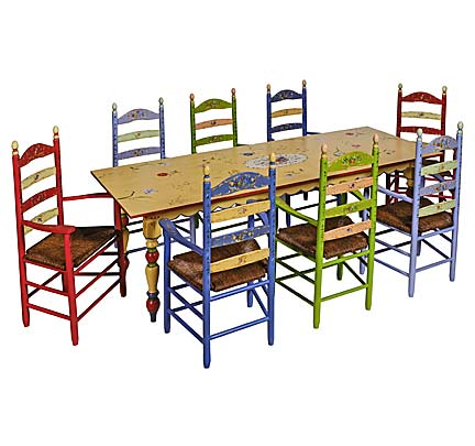 Hand Painted Furniture   Piece Of The Week   Country French Table U0026 Ladderback  Chairs